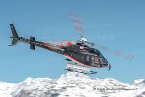 F-GSDG Eurocopter AS350 over mountain